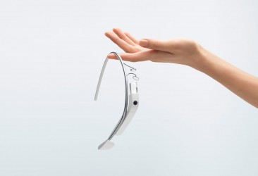 Google Glass, smart glasses under development by Google are seen in handout photo
