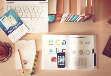 Mobile on study desk